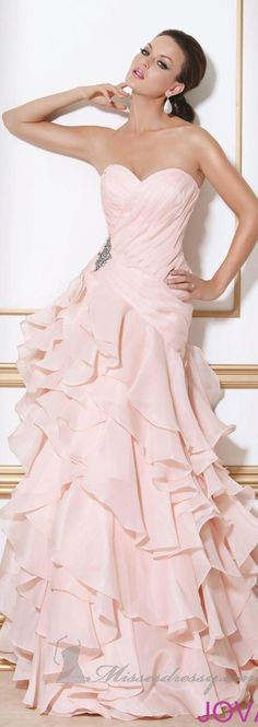 Gown in pink