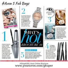 Here it is, #Avon 5 Fab Buys! What's HOT??? Introducing Big & Multiplied #Mascara, Mother's Day is May 8th | #ShopFromHome #MothersDay #AvonRep| #ShopAOB @ https://gkuper.avonrepresentative.com/