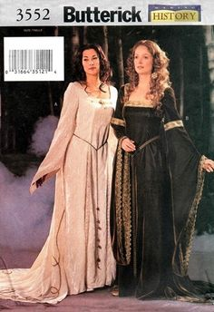 Butterick 3552 Misses' Lord of the Rings Arwen Costume 2002
