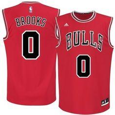 Men's NBA Chicago Bulls #0 Brooks Red Jersey(heat applied)