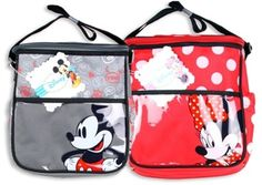 NWT Disney Mini Mickey Minnie Mouse Red and Grey Diaper Bag Free Shipping $14.49