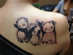 Panda Bear Tattoo Ideas: Beautiful Panda Bear Tattoo Ideas ~ Tattoo Ideas Inspiration with better pandas hear no, see no speak no evil