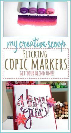 Check out how to blend by doing the Flicking Technique using Copic Markers. Then recycle your practice sheets to create beautiful handmade cards..I'm using Tammy Tutterow Designs Stamps and Dies