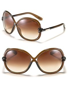"Tom Ford ""Sonja"" Round Oversized Sunglasses $360.00"