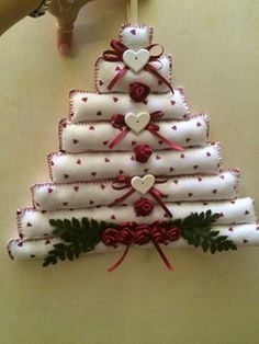 46 How to Make DIY Rustic Felt Christmas Trees   decorsavage