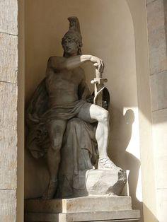 Roman God of War, Mars, at Brandenburger Tor, Berlin Mars by SteffenKahl Ancient History, Art History, Carl Friedrich, Statues, Roman Gods, Roman Soldiers, God Of War, Greek Gods, Gods And Goddesses