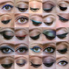 Olhos delineados por Julia Petit