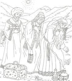 Wijzen uit het Oosten, kleurplaat / Раскраска Рождество