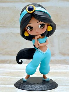 バンプレスト「Q posket Disney Characters -Jasmine-」A 正面 – Pins Polymer Clay Disney, Polymer Clay Figures, Cute Polymer Clay, Cute Clay, Polymer Clay Crafts, Disney Princess Dolls, Disney Dolls, Disney Art, Walt Disney