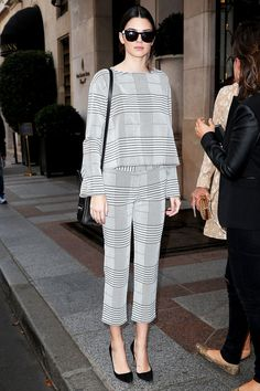 This Is Kendall Jenner's Version Of A Suit For Work #refinery29  http://www.refinery29.com/2014/09/75145/kendall-jenner-work-suit-outfit#slide1  Workin' 9-to-5 —sort of.