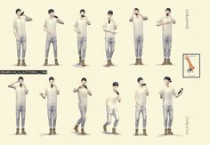 Set musical poses by Dear Kim ~ Nathys Sims Alesso, The Sims4, Sims 4 Custom Content, Thank U, Musicals, Posing Ideas, Outfits, Musical Theatre