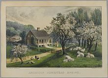 Brooklyn Museum - American Homestead Spring - Currier Ives - Currier and Ives - Wikipedia, the free encyclopedia