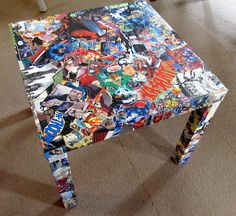 15 comic book crafts using Mod Podge. - Mod Podge Rocks Comic books remind me of growing up in a house of brothers! If you are fond of them too, check out these 15 comic book crafts you'll love. Comic Book Crafts, Comic Books, Comic Book Rooms, Boy Room, Kids Room, Mod Podge Crafts, Mod Podge Ideas, Modge Podge Projects, Superhero Room