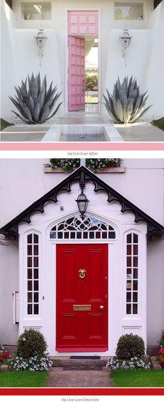 Pink/Grey Door Scheme Color