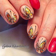 #бабочки !!!!! #бабочкинаногтях #маникюр #модныйманикюр #дизайнногтей #ручнаяроспись #ручнаяросписьногтей #фольга #лето #летнийманикюр #рисункинаногтях #nail #nails #nailart #art #shellac #instalove #instalook #instastyle #instanails #instanail