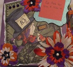 6 x 6 Halloween Paper Bag Ready Made Paperbag Scrapbook Handmade by Laure OOAK | eBay
