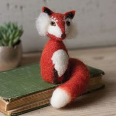 Felt Foxy Figurines - Set of 4