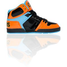 Here's another fresh pair of guys NYC 83 skate shoes from Osiris this time in a Zumiez exclusive color combo! This pair of guys NYC 83 features an patent leather upper, padded tongue and collar, breathable mesh lining, high performance EVA footbed, and cupsole construction. With the Osiris NYC 83's in bright orange, blue, and black colorway you are sure to get noticed.