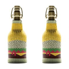 Vegan Koozies, Set of 2, $20  From the global leader of preventing moist handshakes and sweaty beverages comes the perfect summer accessory for chillin and grillin. Infusing style and functionality into a drink insulator, Freaker USA knit koozies aren't just another bar accessory, they're a starter kit for a new lifestyle.