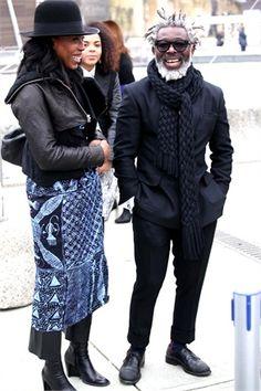 Men Street, Street Style Women, Mature Mens Fashion, Men Fashion, Black King And Queen, Grey White Hair, Dapper Dan, Beard Styles For Men, Autumn Winter Fashion