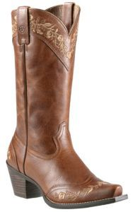 Ariat® Ladies' Vintage Cedar Flora Wingtip Snip Toe Western Boots | Cavender's