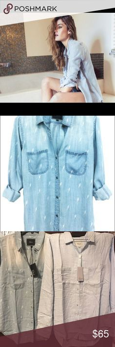 Rails Carter lighting button up Nwt... Cheaper on my Instagram shop! Ask for my username! Rails Tops