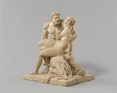 Hercules and Omphale. Anonymous terracotta. Museum Gustave Moreau Paris