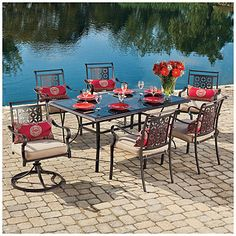 Wilson & Fisher® Regency 7-Piece Dining Set at Big Lots.