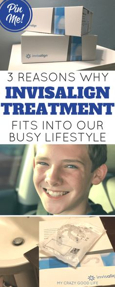 3 Reasons Why Invisalign® Treatment Fits Into Our Busy Lifestyle:  Becca from My Crazy Good Life needed a teeth-straightening plan for her son that wouldn't put a wrench in her family's busy schedule. Find out why Invisalign® clear aligners were a great choice.
