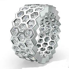 Eternity Ring Womens Wedding Band White Gold Round Bezel Set Diamond in Jewelry & Watches, Engagement & Wedding, Wedding & Anniversary Bands, Diamonds & Gemstones