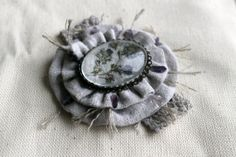 textile brooch with an amethystine crumb of the by olesyablanche, $30.00