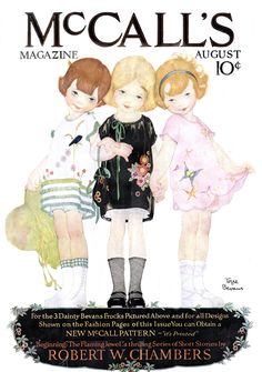 Vintage Illustrations McCall's Magazine - August 1921 - Cover of the August 1921 issue of McCall's magazine. Art by Torre Bevans. Vintage Ephemera, Vintage Cards, Vintage Images, Vintage Sewing, Vintage Pictures, Old Magazines, Vintage Magazines, Vintage Books, Vintage Prints