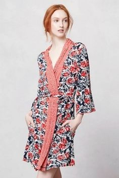 Gifts for your Bridesmaids - Dressing gown    A pretty printed dressing gown is even more enticing than those waffle-weave hotel versions. She'll never want to actually get dressed again. Centifolia robe, $78, Porridge, Anthropologie.com