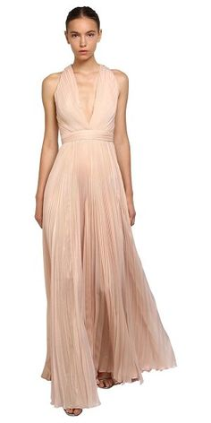 8874a49d70b6 Zuhair Murad Pleated Shiny Silk Long Dress. Blush GownDonna MorganCasual ...
