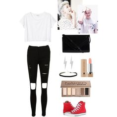 Rap Monster's Ideal Type by leemijoo on Polyvore featuring polyvore fashion style Monki Converse Pieces Edge Only Urban Decay Marc Jacobs bts rapmonster kimnamjoon