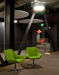 Cahoots Relax chair at Skype's World-Class Headquarters | design Blitz San Francisco