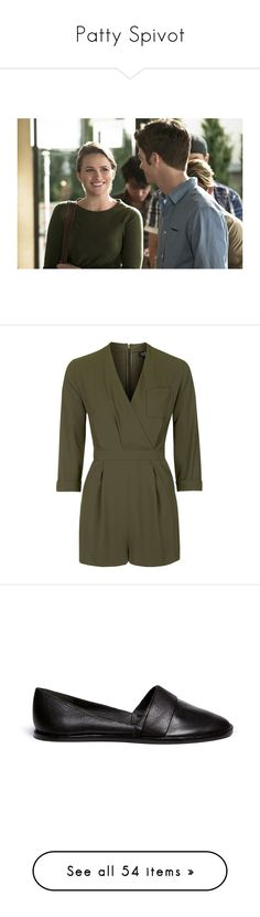 """Patty Spivot"" by happy-fashionx ❤ liked on Polyvore featuring jumpsuits, rompers, jumpsuit, playsuits, topshop, khaki, petite, playsuit romper, khaki romper and khaki jumpsuit"