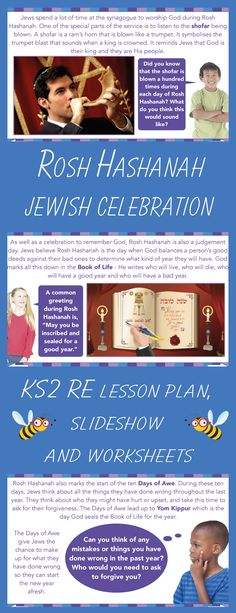 Download this Rosh Hashanah KS2 RE lesson, which is packed full of information about the Jewish New Year festival. This pack includes a detailed lesson plan, an engaging and informative slideshow and differentiated worksheets and activity ideas. This lesson is part of PlanBee's Jewish Celebrations RE Scheme of Work for Year 3. Jewish Beliefs, Story Of Esther, Jewish Celebrations, Worship God, Religious Education, Rosh Hashanah, Picture Cards, Lesson Plans, Card Games