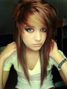 Long Hair  Bangs on Emo Hair  Scene Hair And Styling  Long Scene Hair