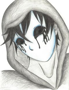 Here's Eyeless Jack, a creepypasta thingy. Gothic Drawings, Scary Drawings, Dark Art Drawings, Pencil Art Drawings, Art Drawings Sketches, Cute Drawings, Eyeless Jack, Arte Horror, Horror Art