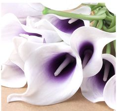 calla lily bouquet Real Touch purple Picasso by EASYDREAMWEDDINGS