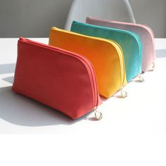 After The Rain Block big zipper pouch ~~~ cute for cosmetics yupp.. :)