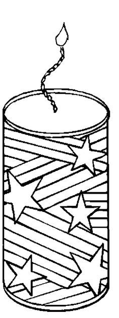 4th of July Coloring Page Print 4th of July pictures to color at