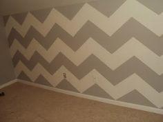 Chevron wall stripes ~ maybe for teen boys' room