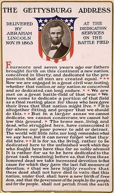 The Gettysburg Address Delivered by Abraham Lincoln Nov. 19 1863 by allhistory History 'The Gettysburg Address Delivered by Abraham Lincoln Nov. 19 Poster by allhistory Bill Of Rights, American Presidents, American Civil War, Captain American, Early American, Native American, Greatest Presidents, History Facts, World History