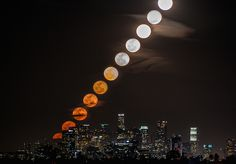 "Timelapse Photography by Dan Marker Moore. A collages' series composed of urban landscapes' vertical slices taken thanks to the time lapse technique. ""Time Slice"" gathers very beautiful sunsets or moon risings captured at differed moments, in the middle of skyscrapers."