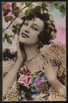 French Hand Tinted postcard1925