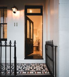 "Lovely tessellated tile entrance to a Victorian Terrace – ""Fitzroy"" Pattern by Olde English Tiles™"