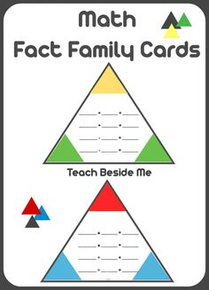 Printable Math Fact Families C, ards