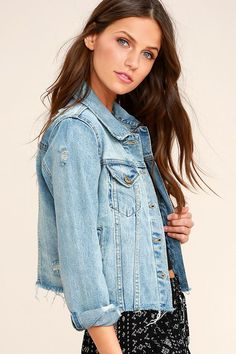 The Can t Wait Blue Distressed Denim Jacket is all the rage! Light wash 6e6908b56